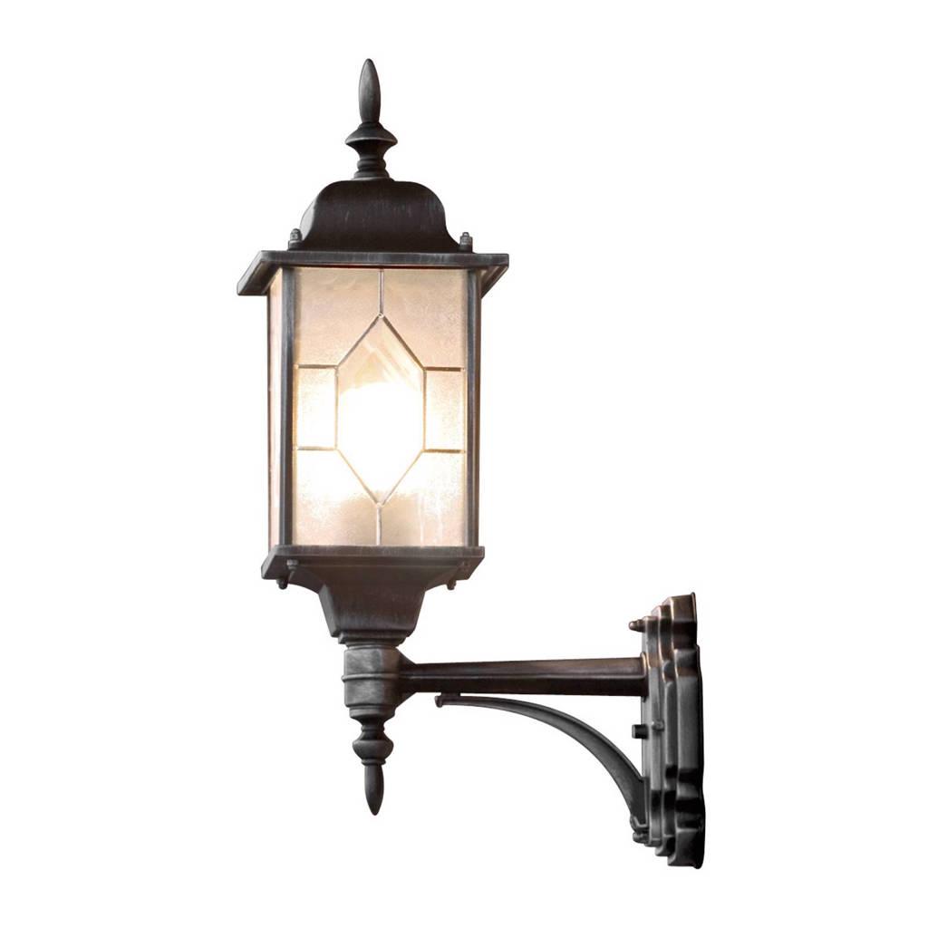 Konstsmide wandlamp Milano (M), Zwart/zilver