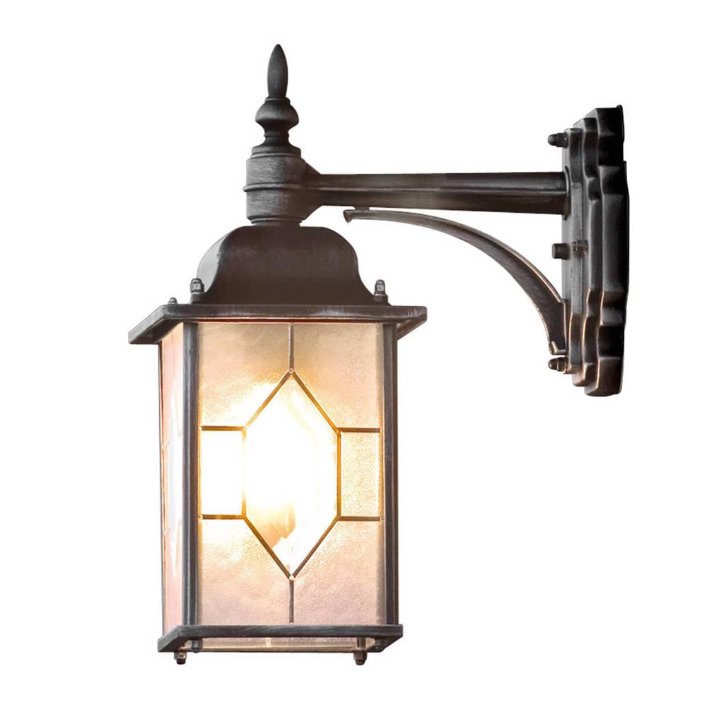 Konstsmide wandlamp Milano (S), Zwart/zilver
