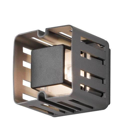 Wandlamp Konstsmide Pescara 7978-370 Antraciet 230V flush square 11cm, 1x 3W