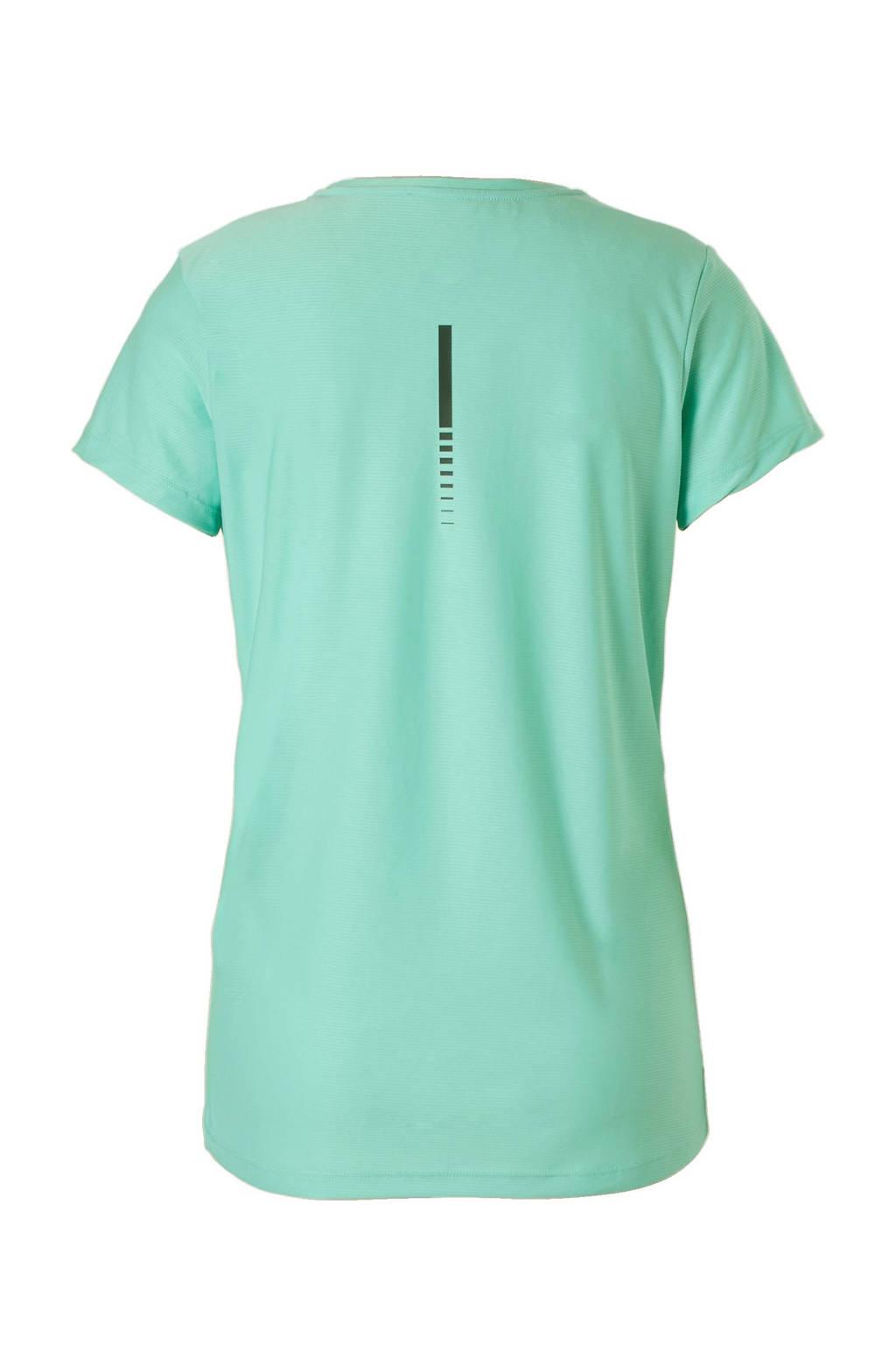 ASICS hardloop T-shirt, Mintgroen/grijs