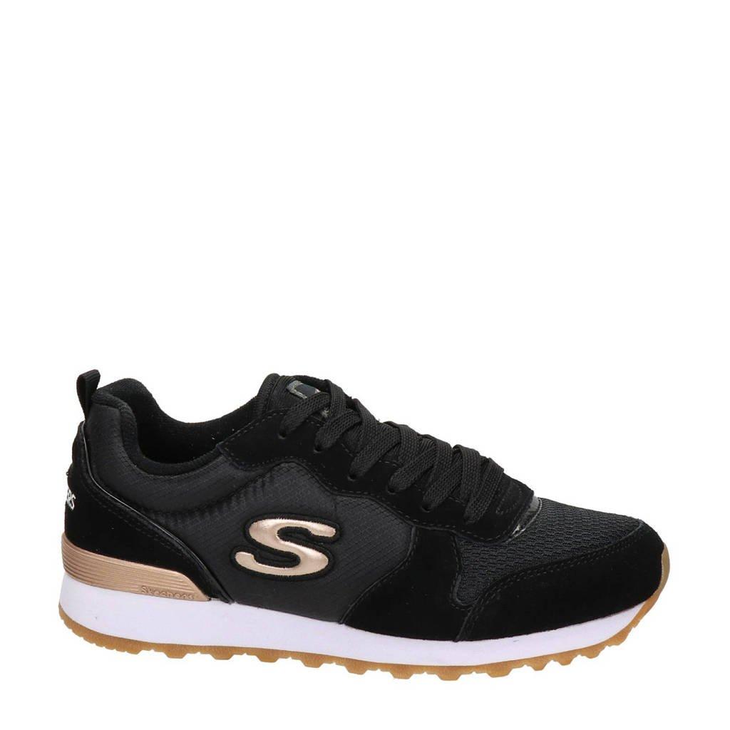 Skechers  suède sneakers zwart, Zwart