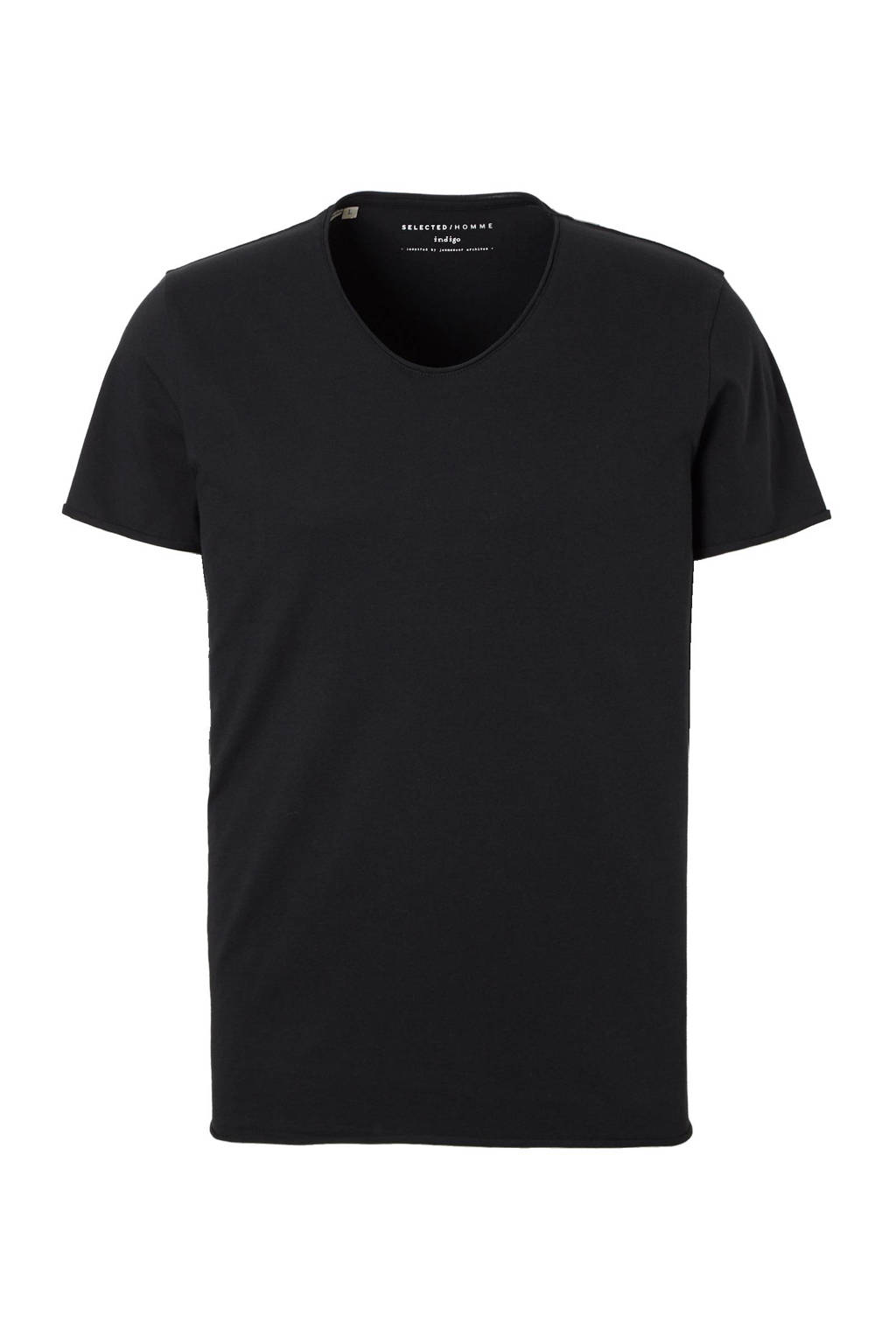 SELECTED HOMME New merce T-shirt, Zwart