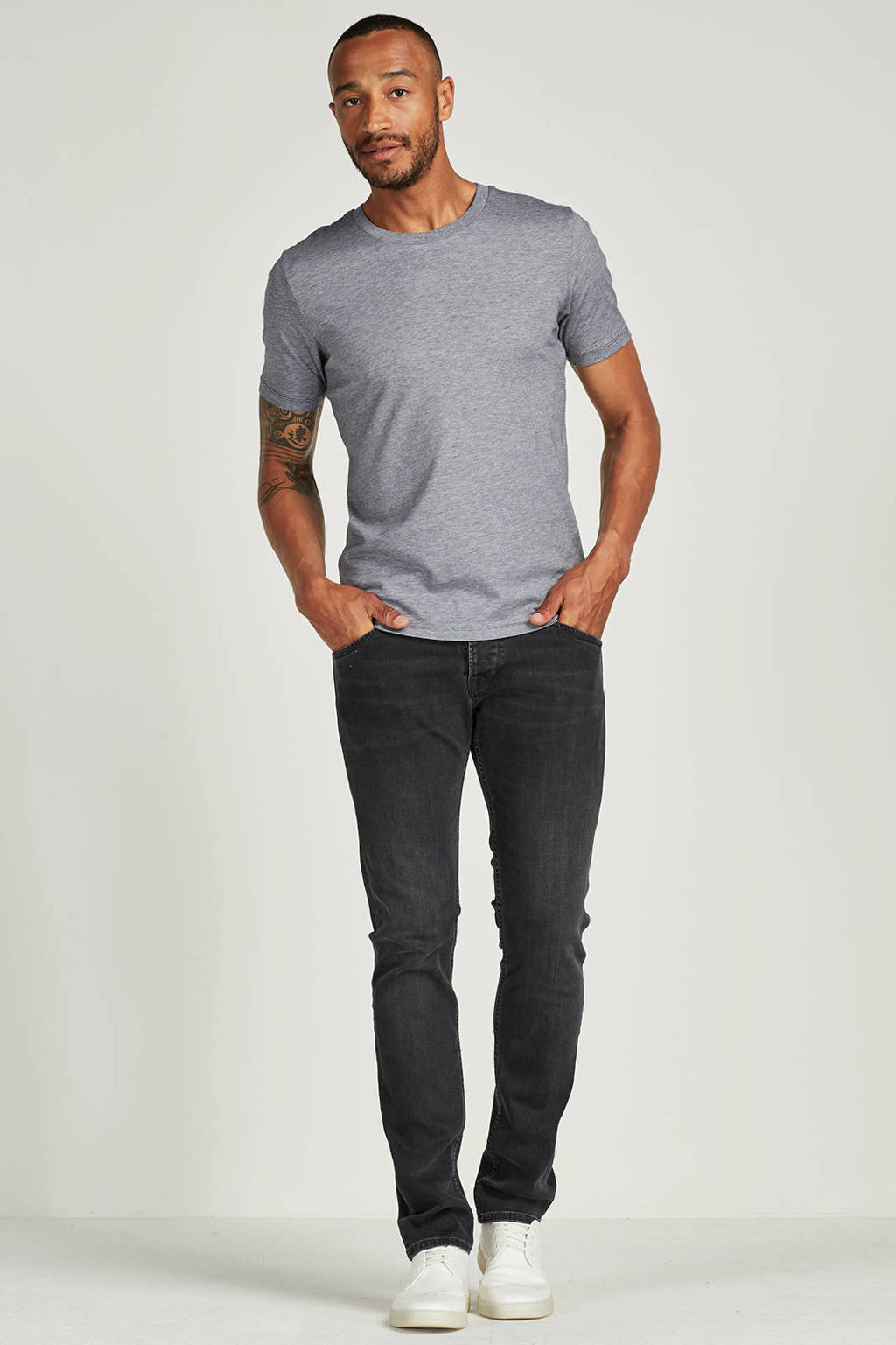 SELECTED HOMME Perfect T-shirt, Donkerblauw