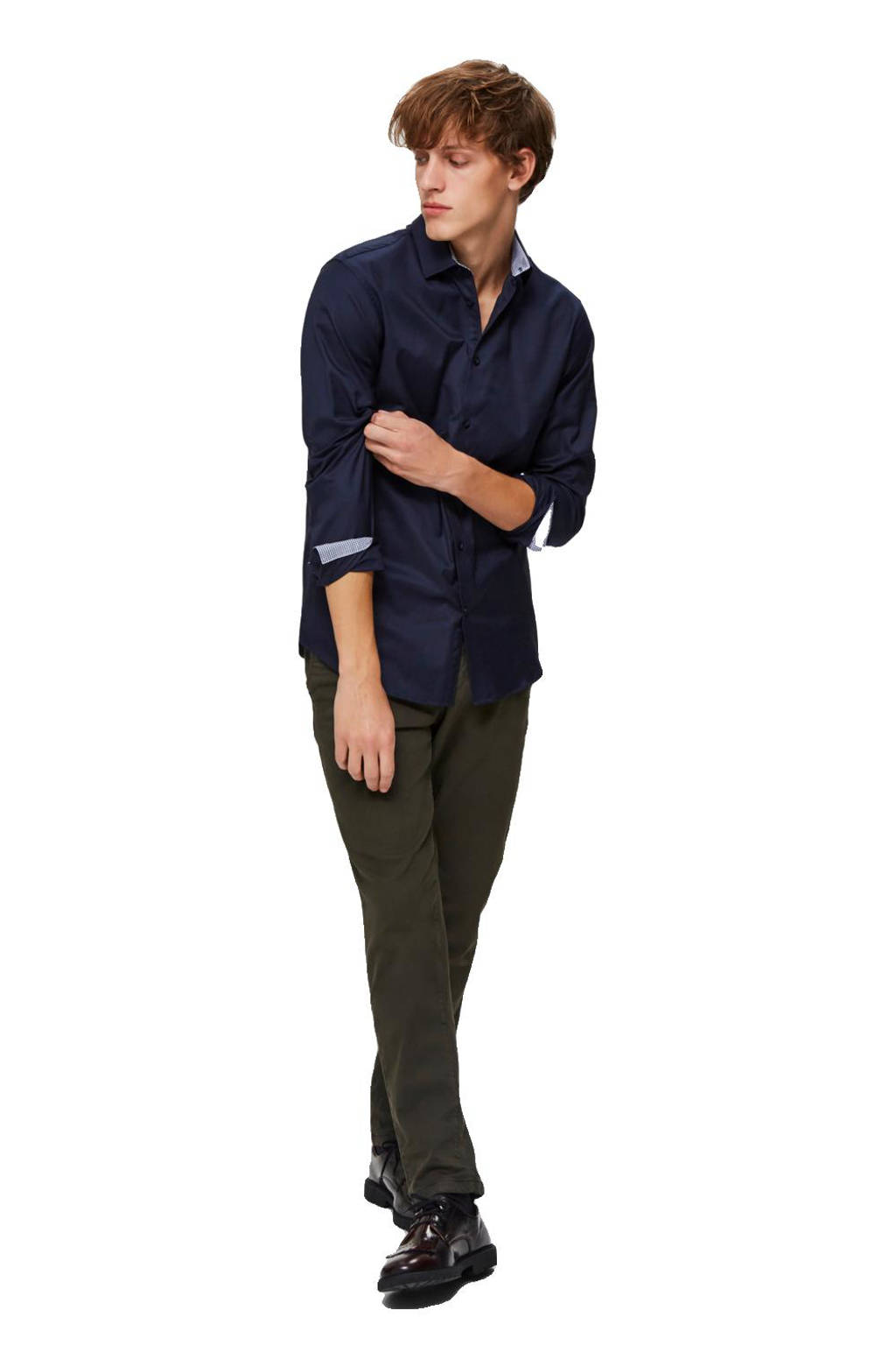 SELECTED HOMME New Mark slim fit overhemd, Donkerblauw