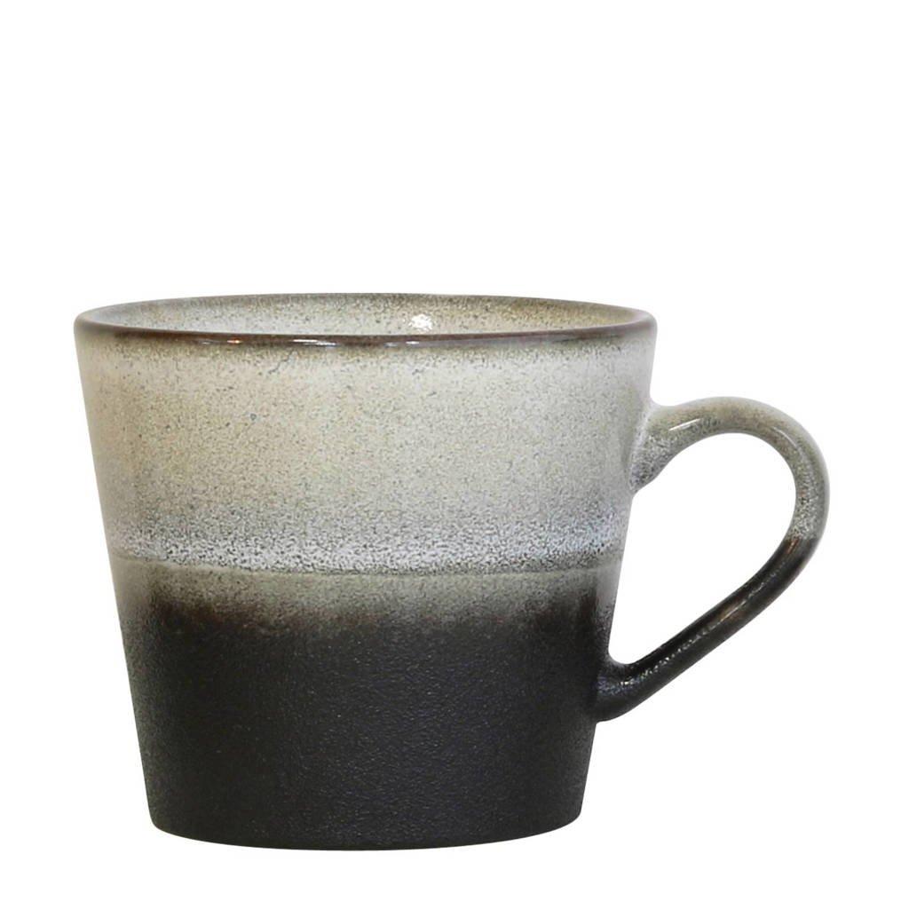 HKliving 70's mok (Ø9,5 cm), Zwart/wit