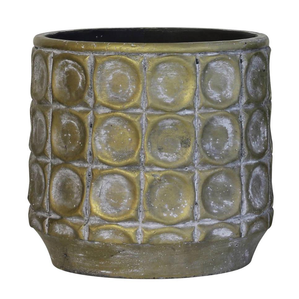 HKliving bloempot M, Antiek goud