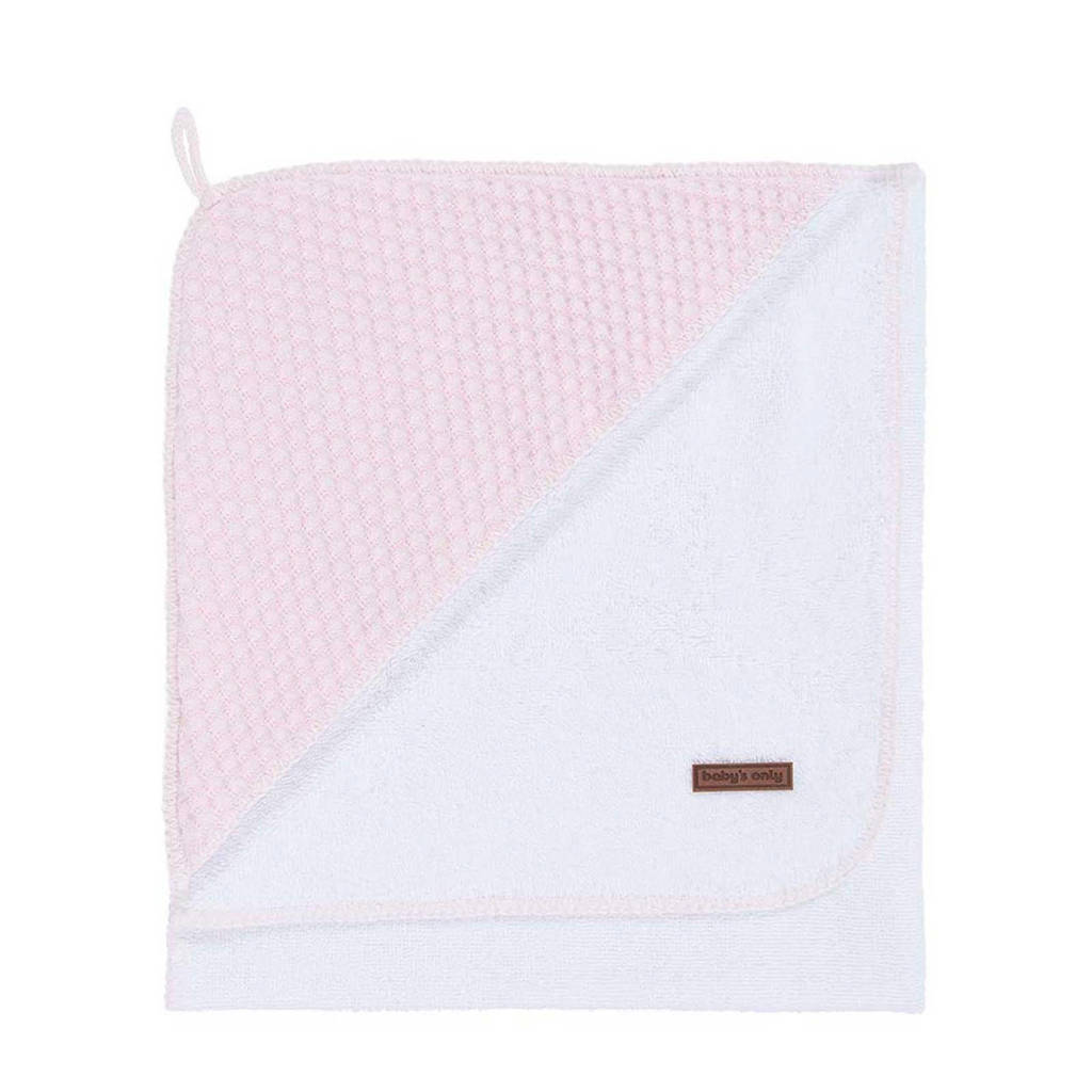 Baby's Only Sun badcape 85x75 cm baby roze, Baby roze