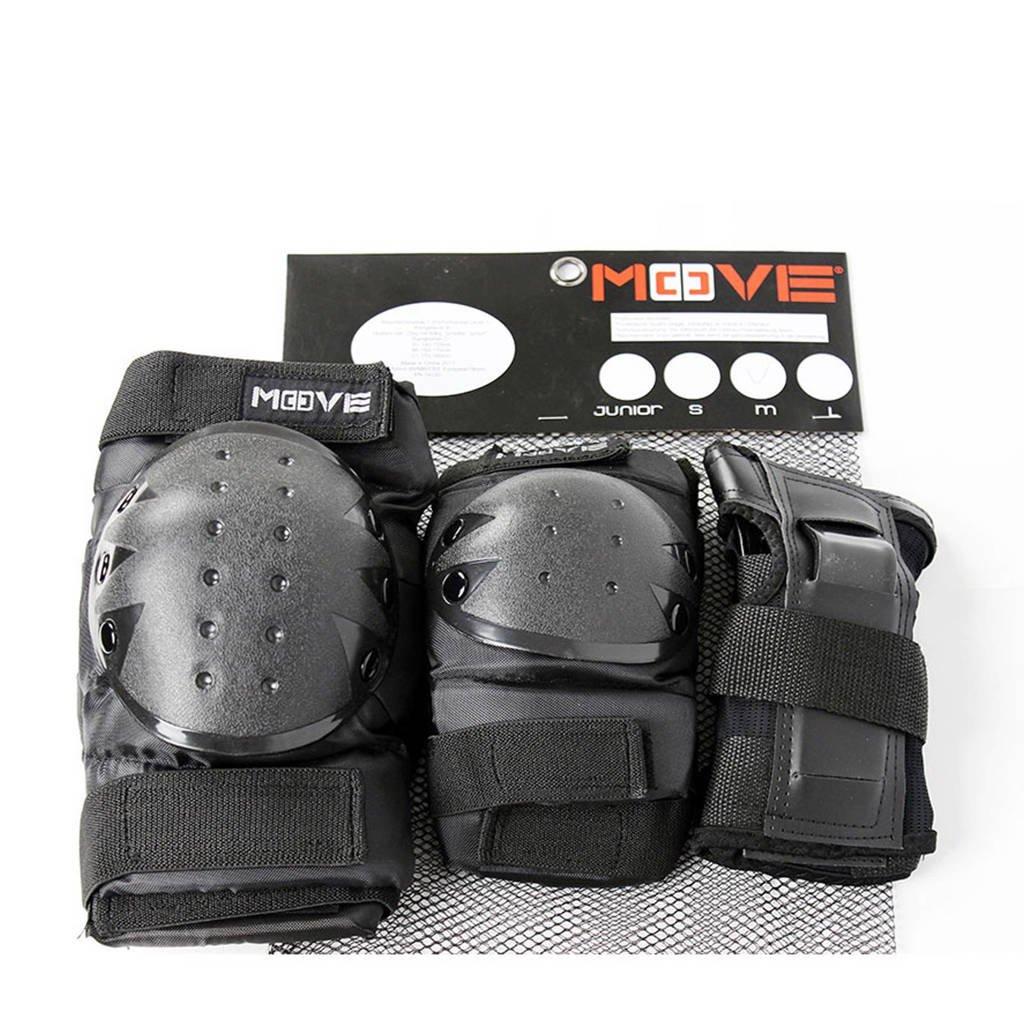 Move 3-pack basic senior skatebescherming, Zwart