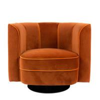 Dutchbone Flower fauteuil, Oranje