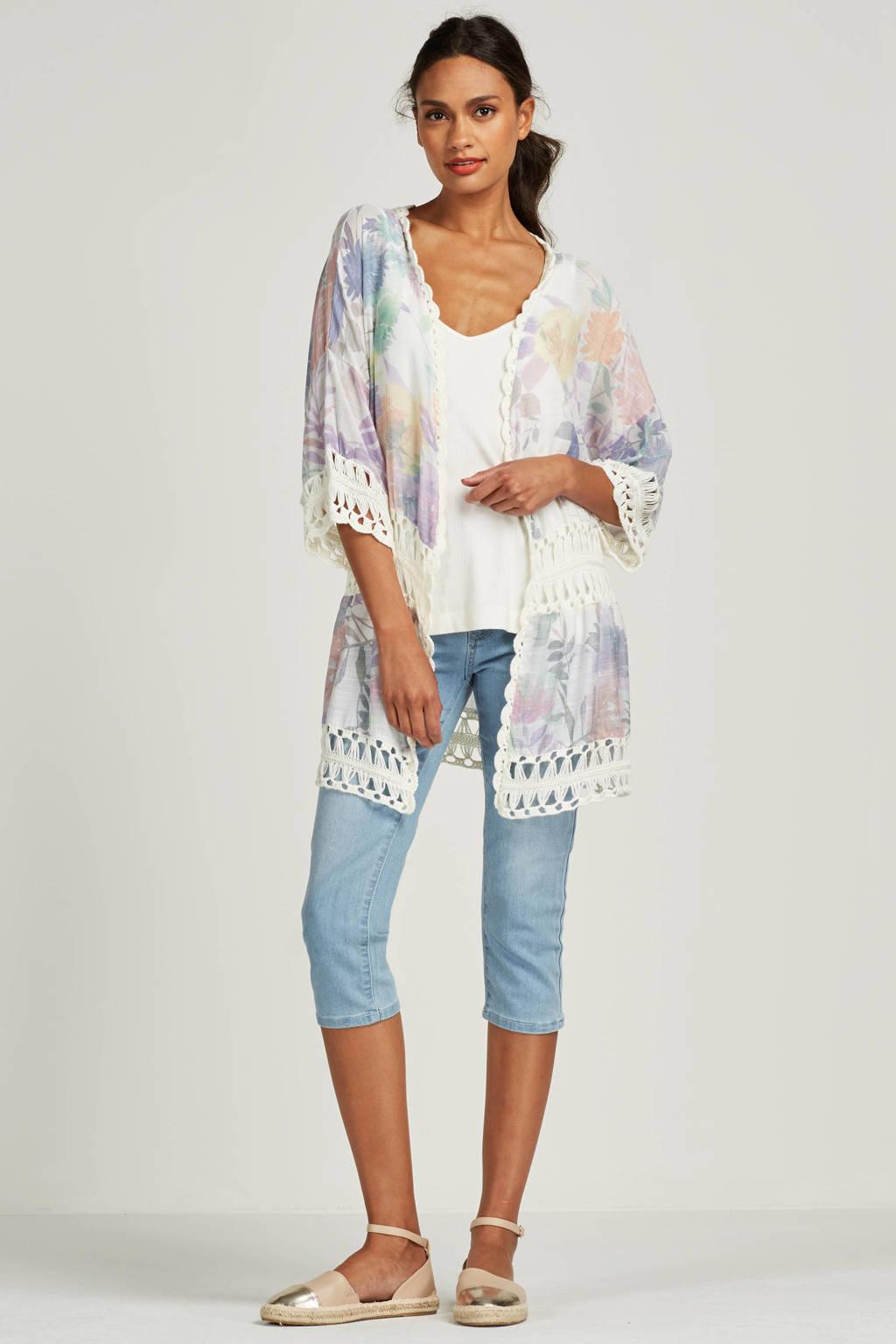 Miss Etam Regulier capri jeans, Lichtblauw