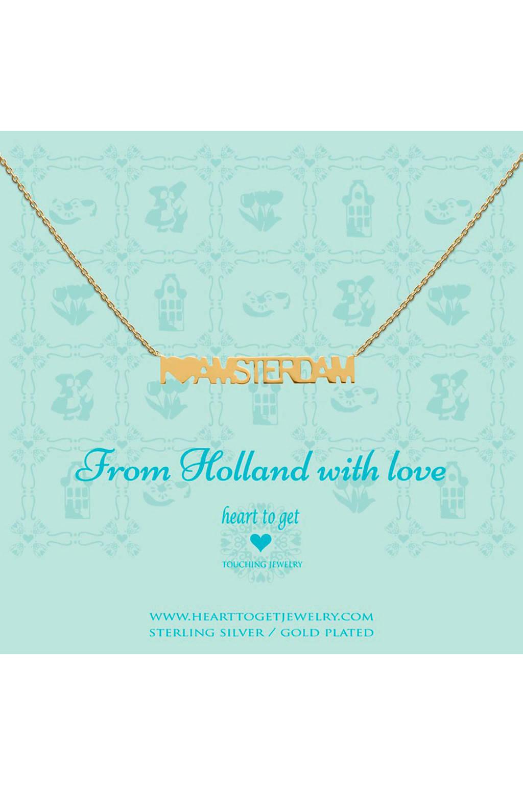 Heart to Get zilveren ketting goudkleurig -  N291AMS16G, Goud
