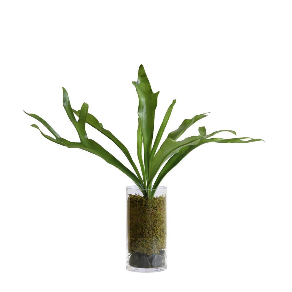HKliving kunstplant in vaas, Groen