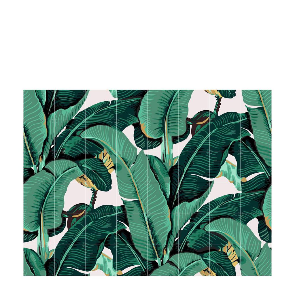 IXXI wanddecoratie Banana Leaf (160x120 cm), Groen, wit