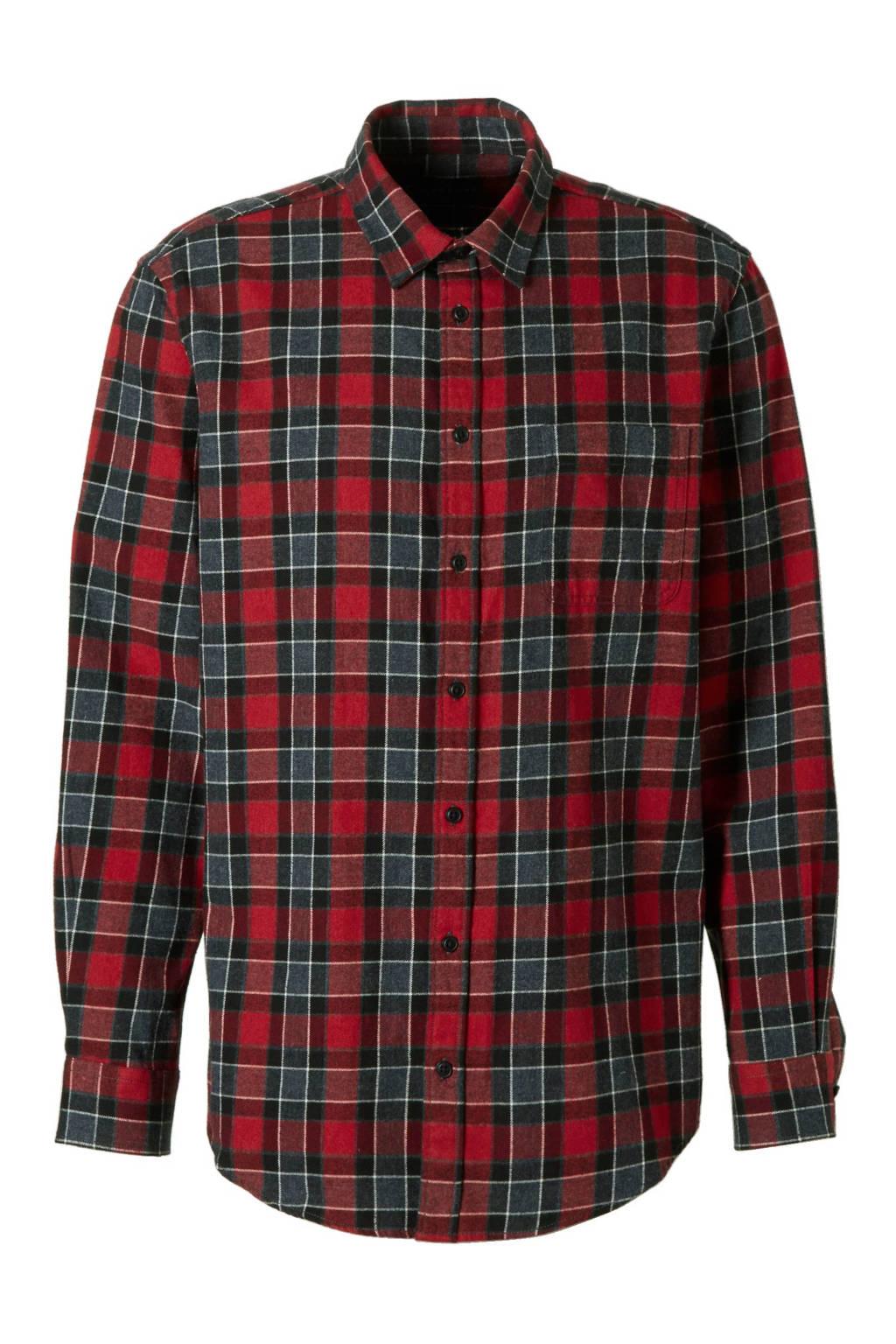 Rood Zwart Overhemd.C A Canda Regular Fit Overhemd Wehkamp