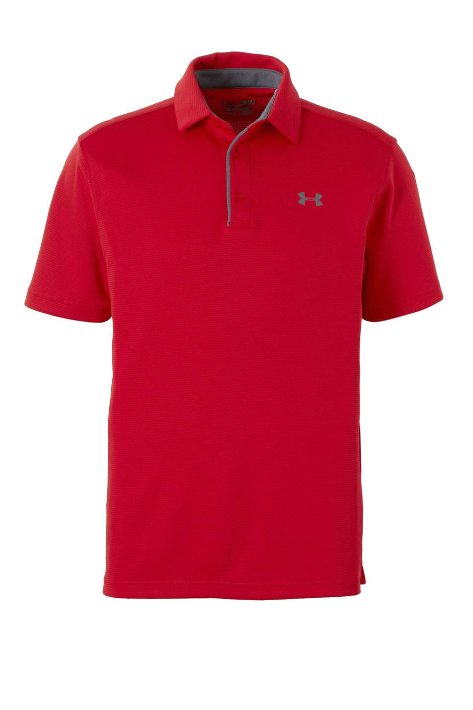 Under Armour   sportpolo, Rood/grijs