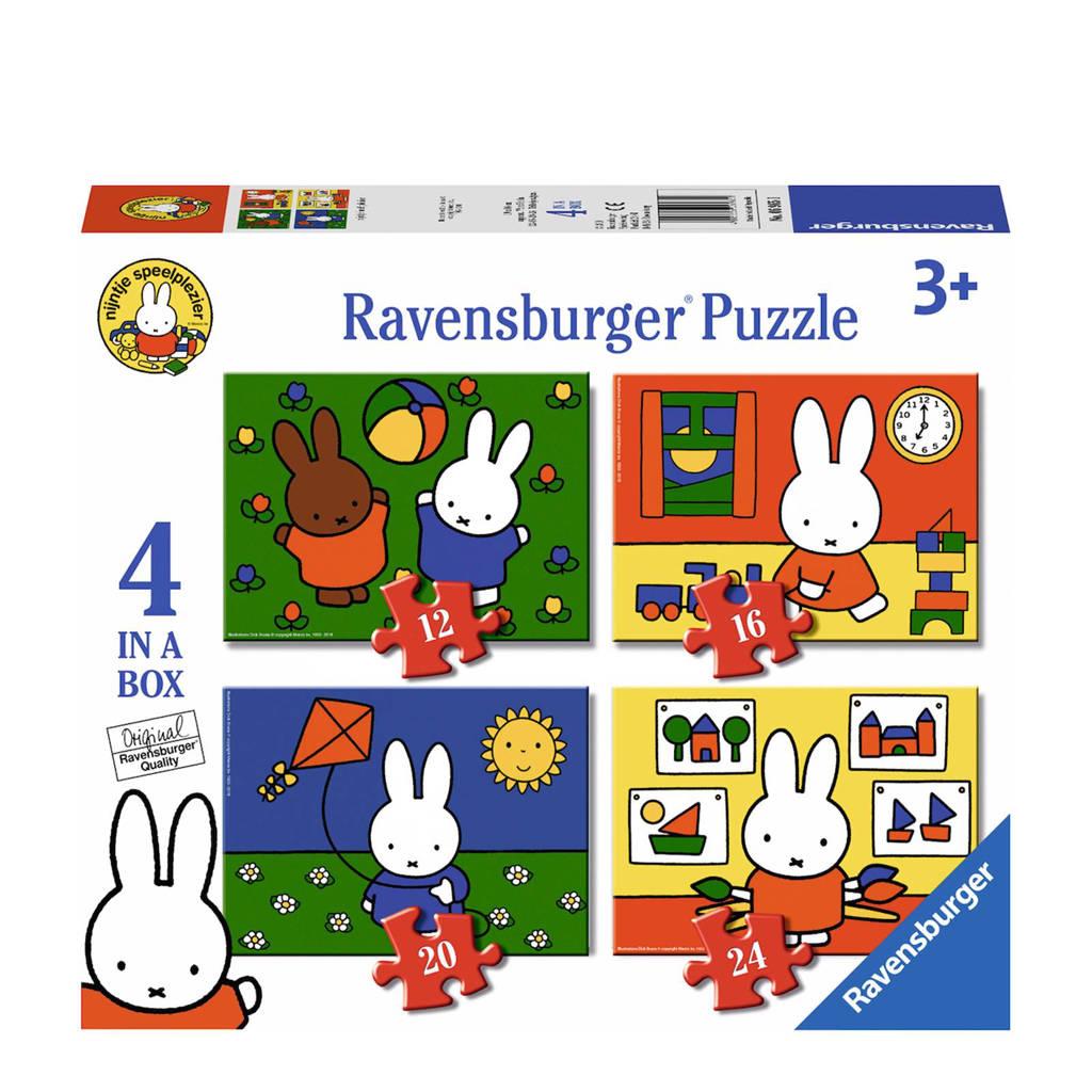 Ravensburger nijntje 4-in-1-box  blokpuzzel 24 stukjes