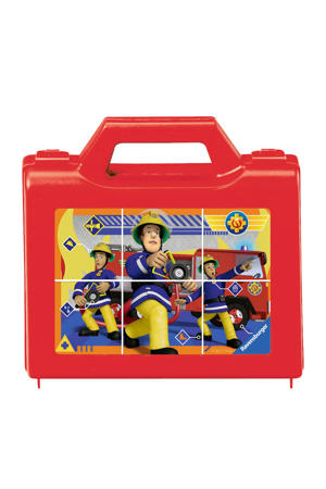 Brandweerman Sam houten blokpuzzel 6 stukjes