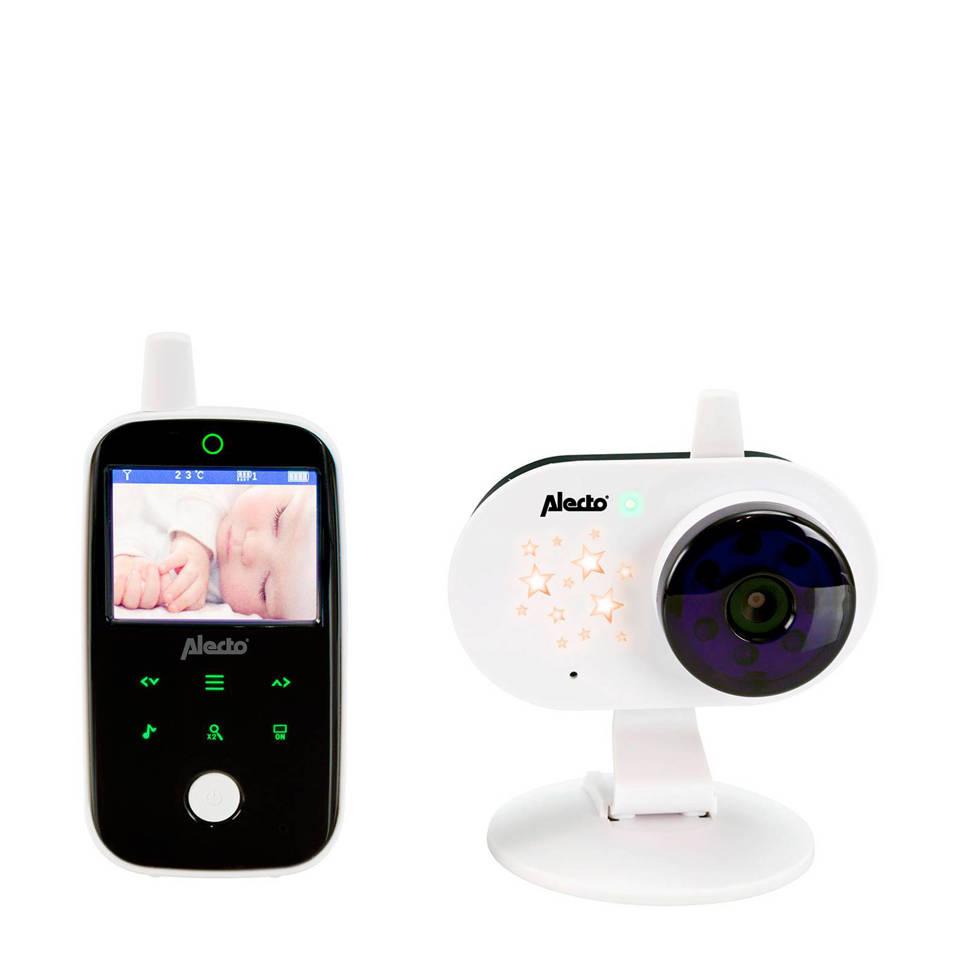"""Alecto DVM-69 babyfoon met camera en 2.4"""" kleurenscherm, Wit, zwart"""