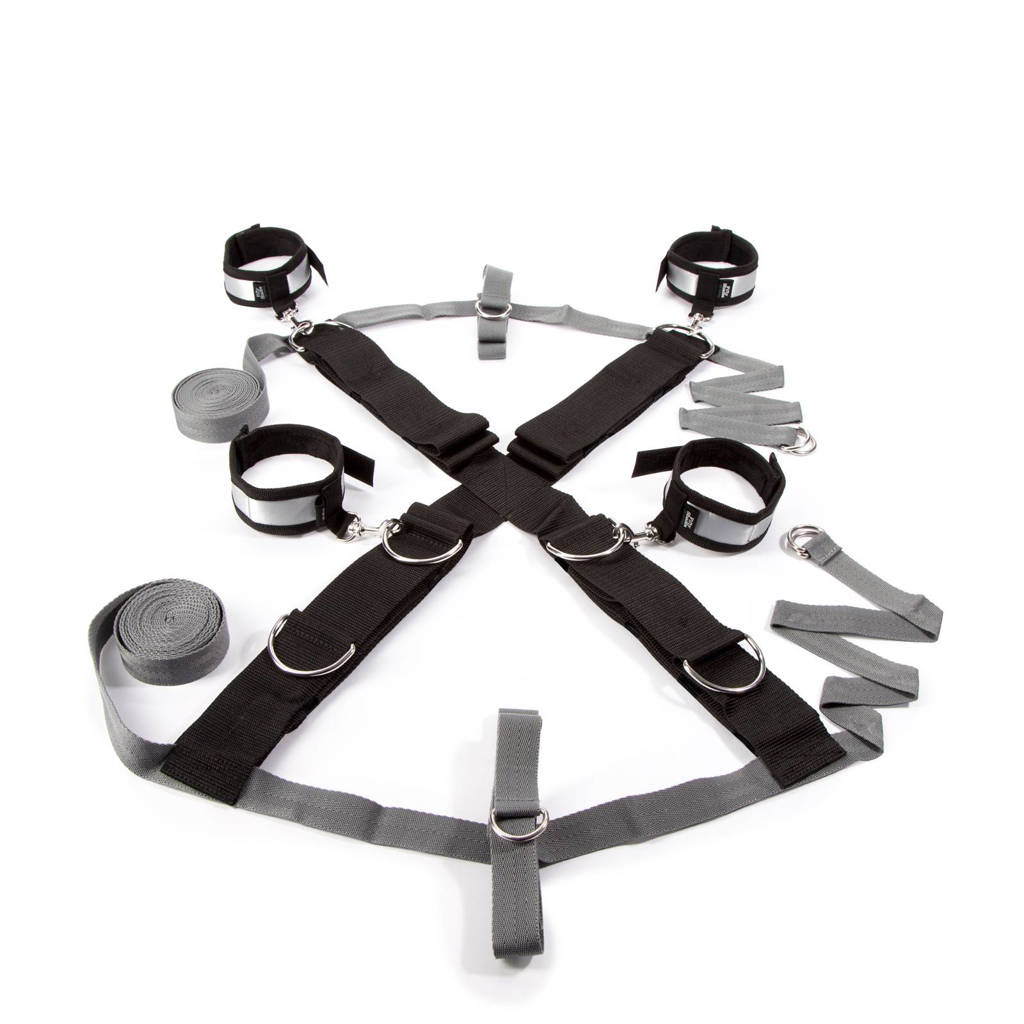 Fifty Shades of Grey over the bed cross restrain - zwart