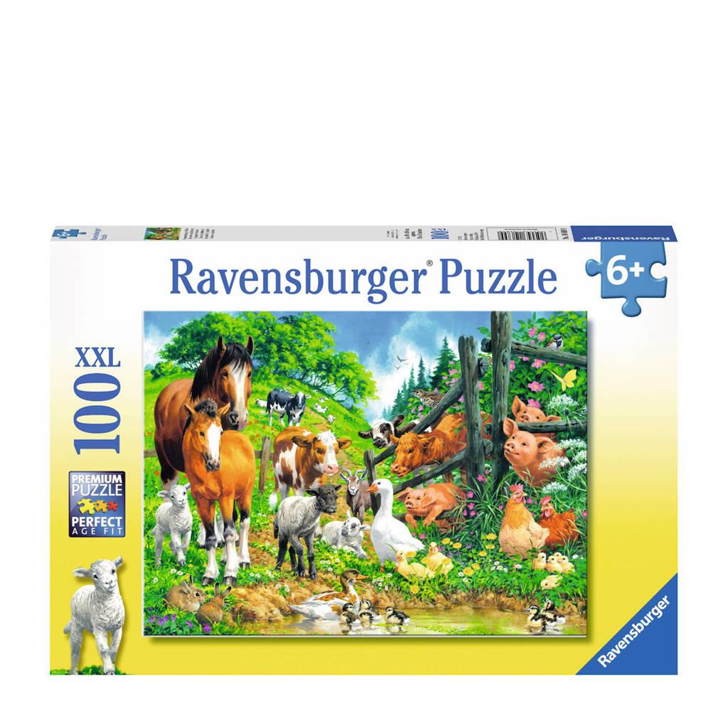 Ravensburger dierenbijeenkomst  legpuzzel 100 stukjes