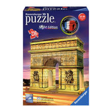 Arc de Triomphe nachteditie  3D puzzel 216 stukjes
