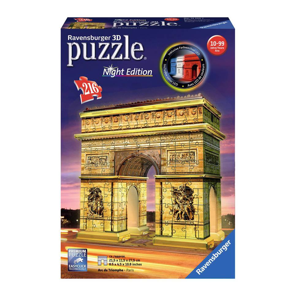Ravensburger Arc de Triomphe nachteditie 3D puzzel 216 stukjes