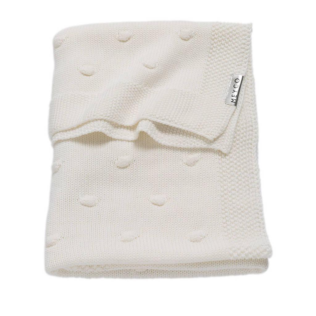 Meyco Silverline Knots wiegdeken 75x100 cm gebroken wit, Gebroken wit