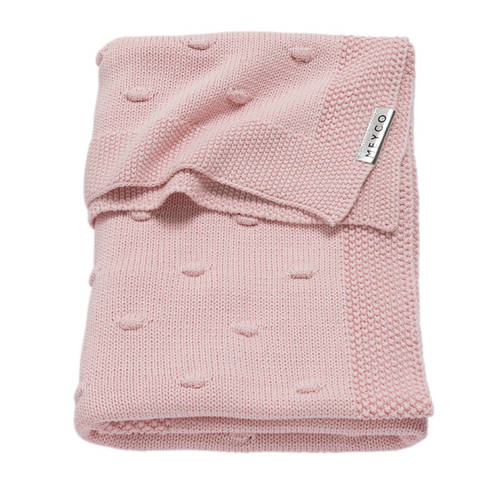 Meyco Silverline Knots wiegdeken 75x100 cm roze