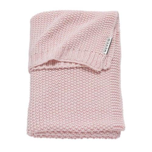 Meyco Silverline Relief Mixed wiegdeken 75x100 cm roze