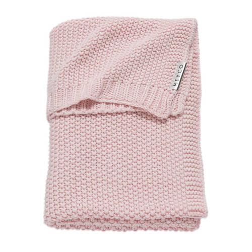 Meyco Silverline Relief Mixed ledikantdeken 100x150 cm roze