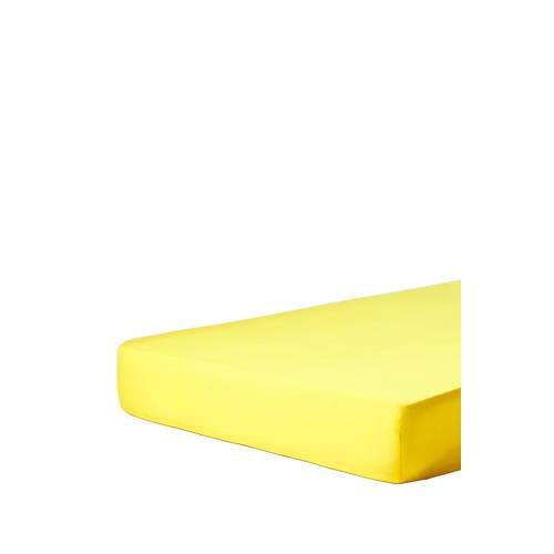 Essenza katoensatijnen hoeslaken Geel kopen