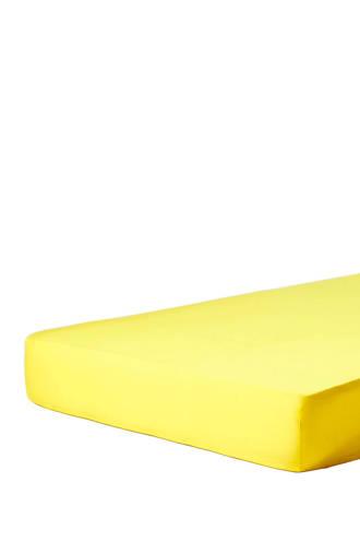 katoensatijnen hoeslaken Geel