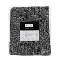 Meyco Silverline Relief Mixed boxkleed 77x97 cm zwart, Zwart