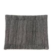 Meyco Silverline Relief Mixed boxkleed 77x97 cm zwart