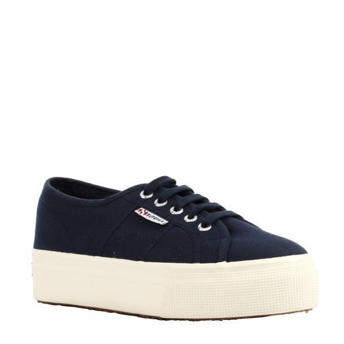 Superga 2790 Ascot plateau sneakers donkerblauw