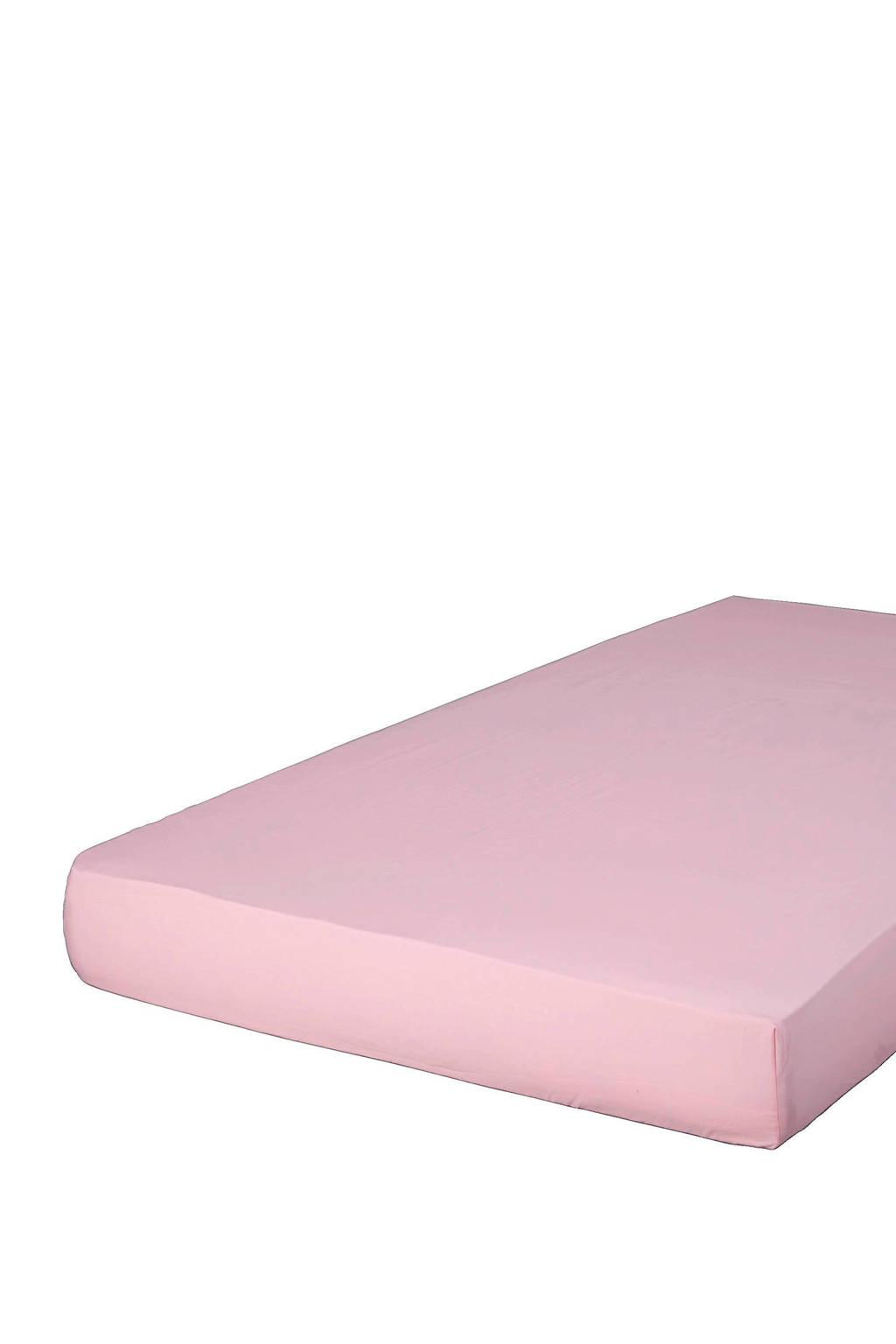 Essenza perkalkatoenen hoeslaken Roze