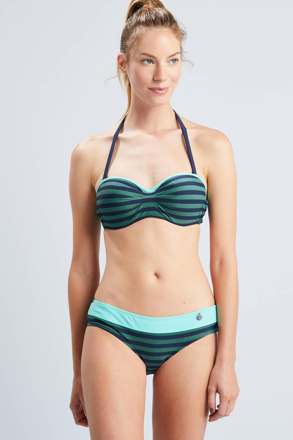 Beachlife beugel bikinitop, Groen/blauw