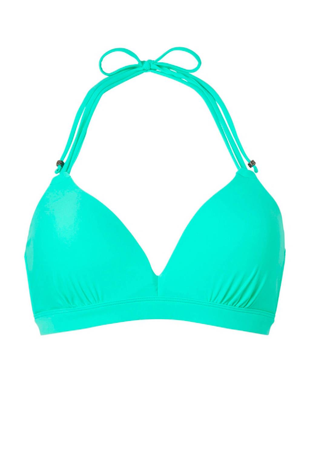 Beachlife halter bikinitop, Groen