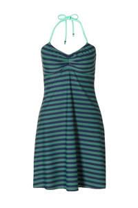 Beachlife gestreepte strandjurk groen/blauw, Groen/blauw