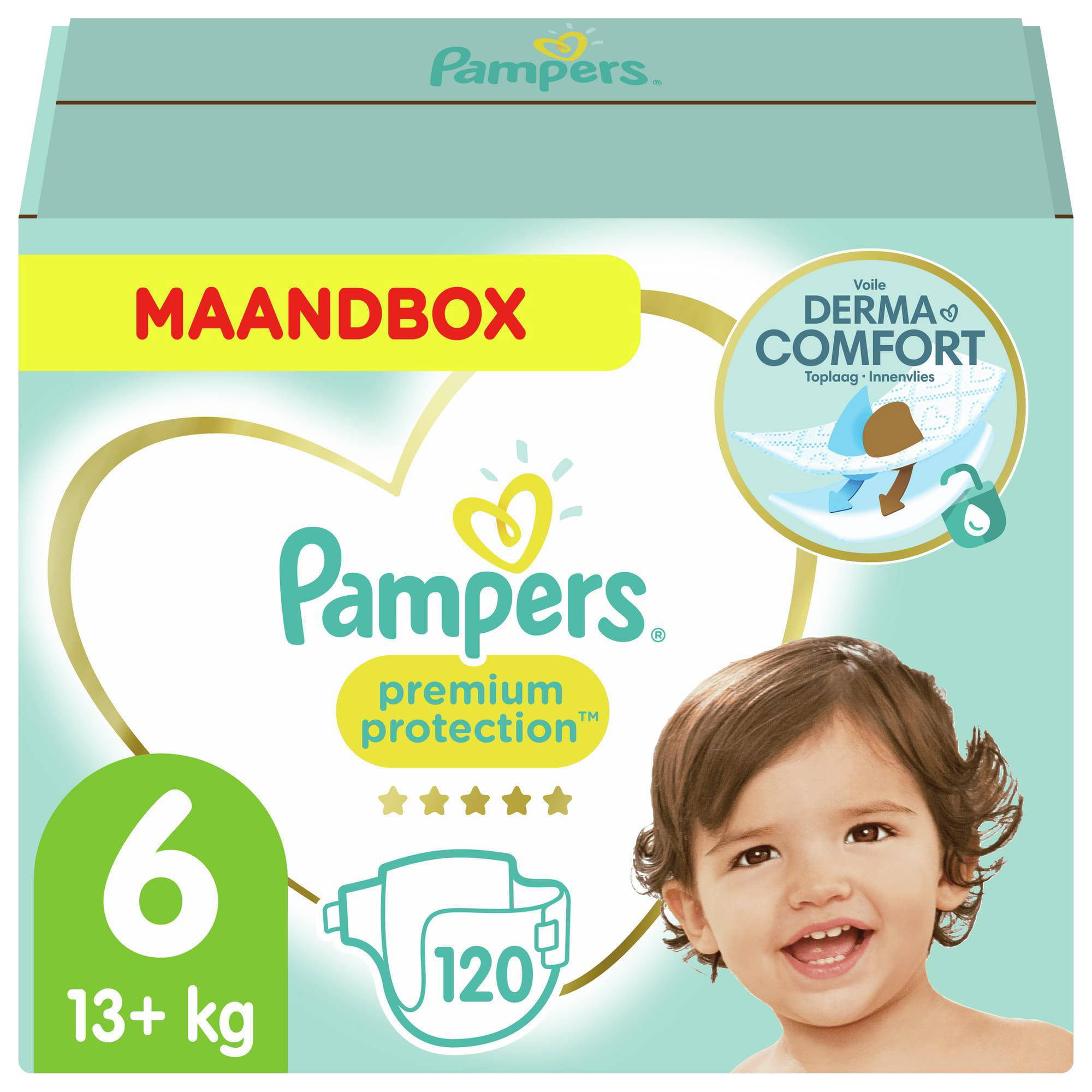 Pampers Premium Protection maandbox maat 6 (13+ kg) 120 luiers