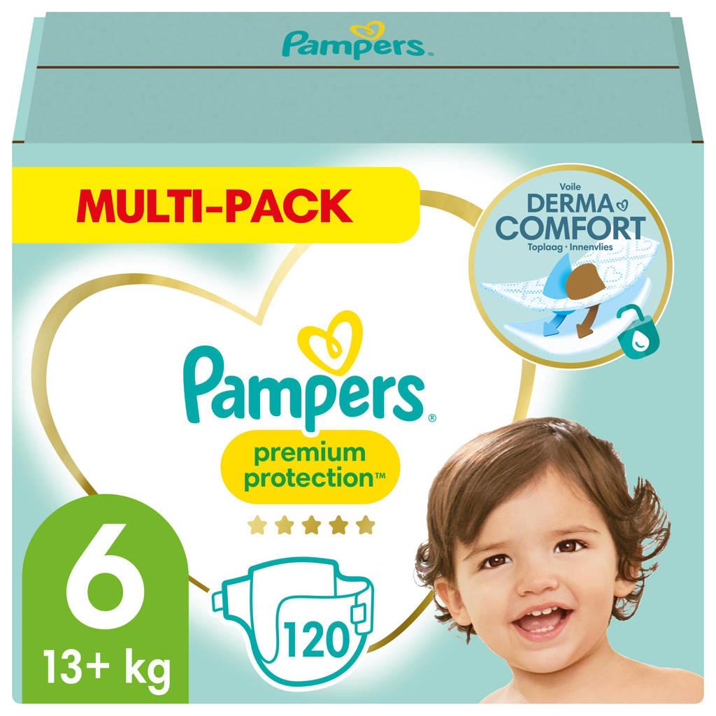 Pampers Premium Protection Maat 6 (13kg+) 120 Luiers, 6 (13+ kg)