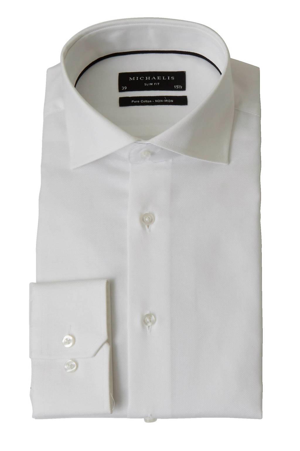 Overhemd Strijkvrij Slim Fit.Michaelis Slim Fit Overhemd Wehkamp