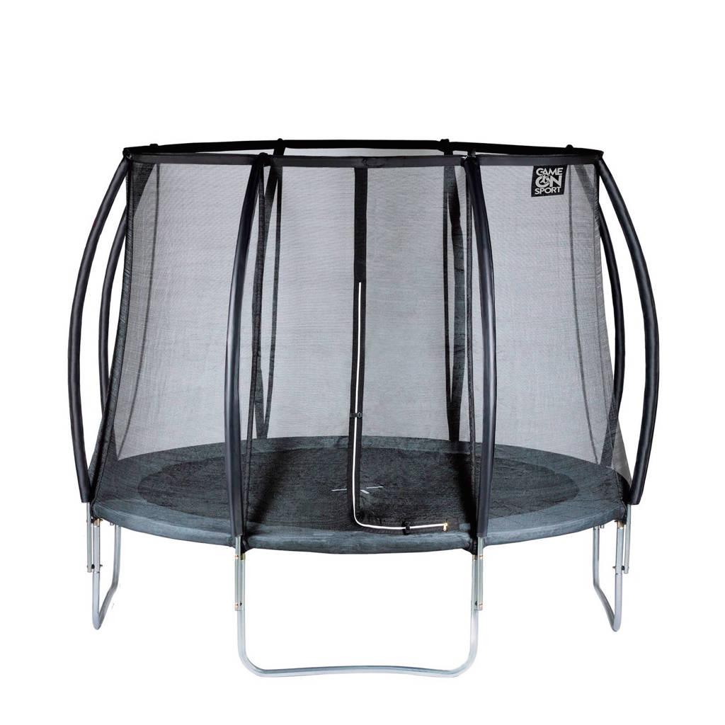 Game on Sport Black Line  trampoline 244cm, Op poten