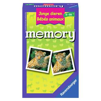 Memory jonge dieren kaartspel