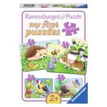 Dieren in de tuin  legpuzzel 20 stukjes