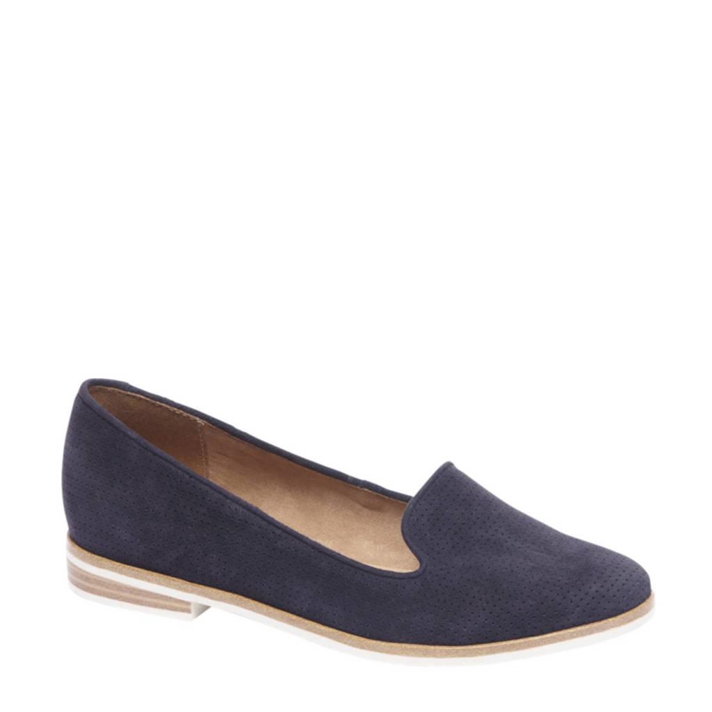 vanHaren 5th Avenue suède loafers, Blauw