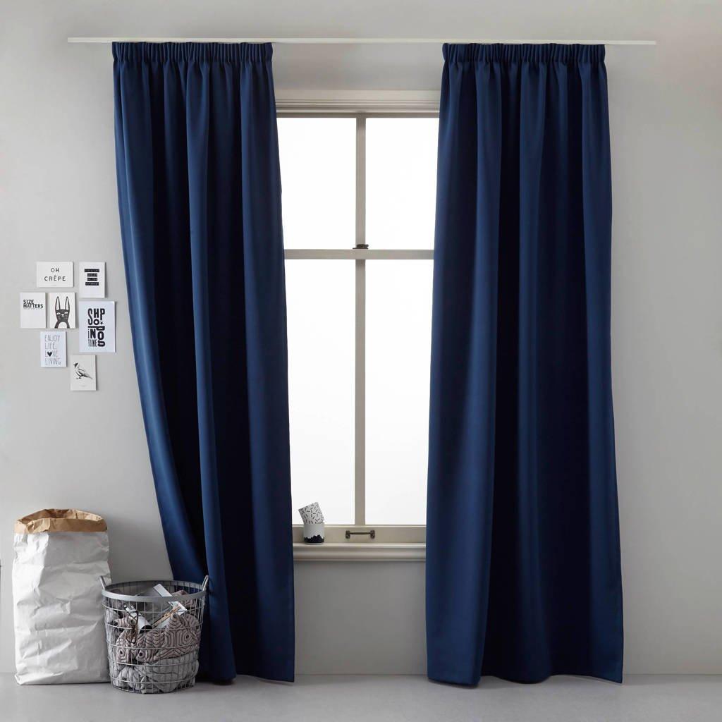 Wehkamp Home verduisterend gordijn kant en klaar verduisterend gordijn (per stuk) (140 x 270 cm), Marine blauw