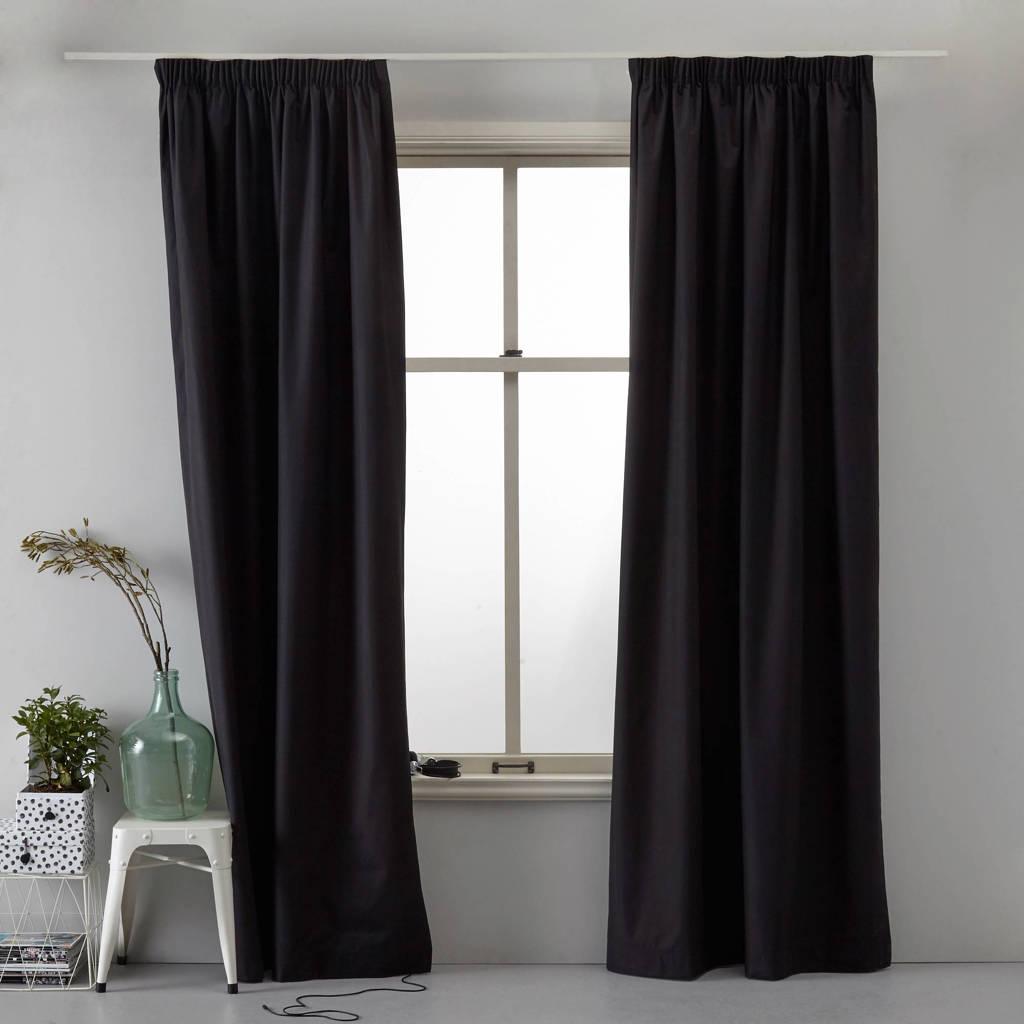 Wehkamp Home verduisterend gordijn kant en klaar verduisterend gordijn (per stuk) (130 x 180 cm), Zwart