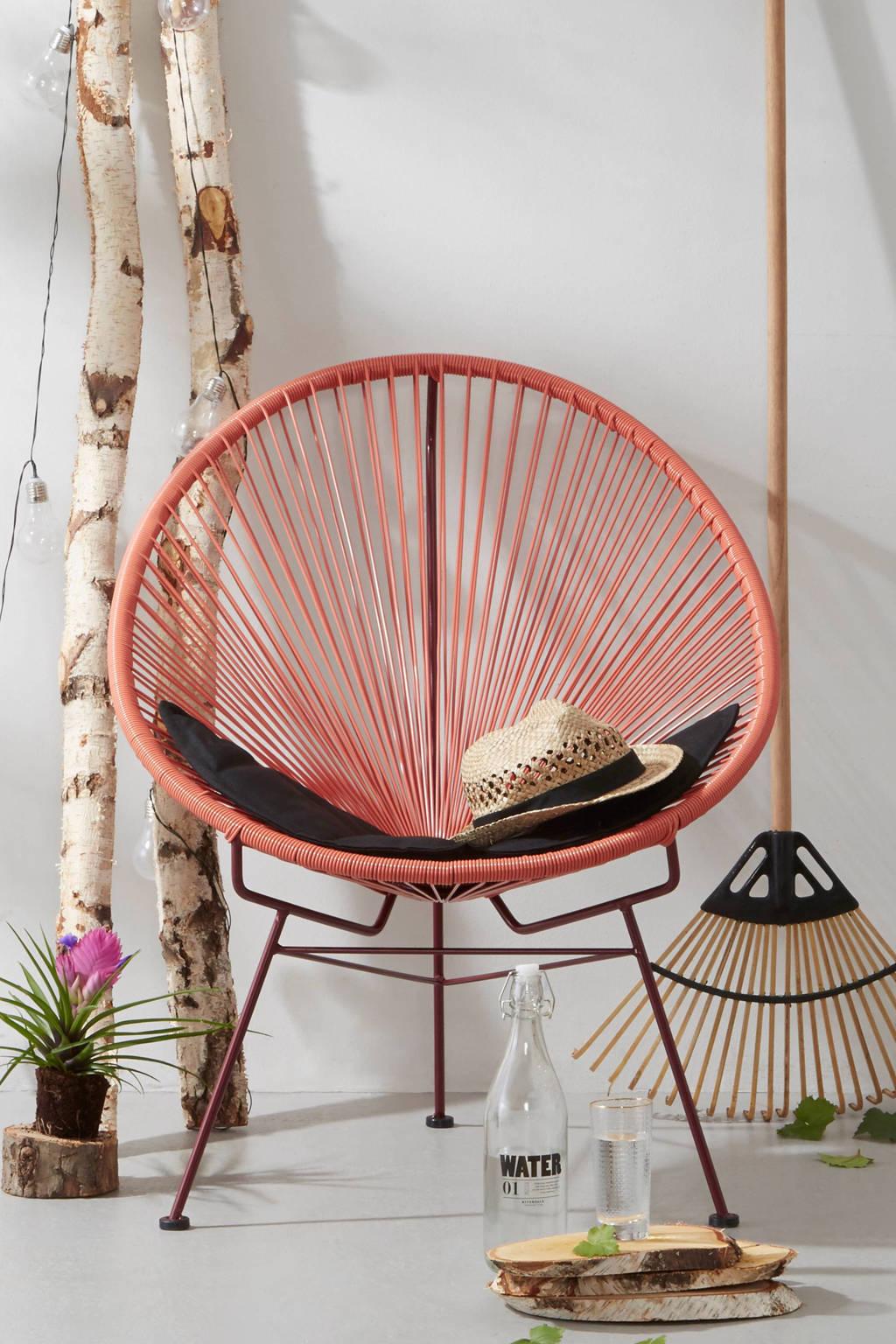 whkmp's own stoel Firenze (met gratis kussen), Donkerroze
