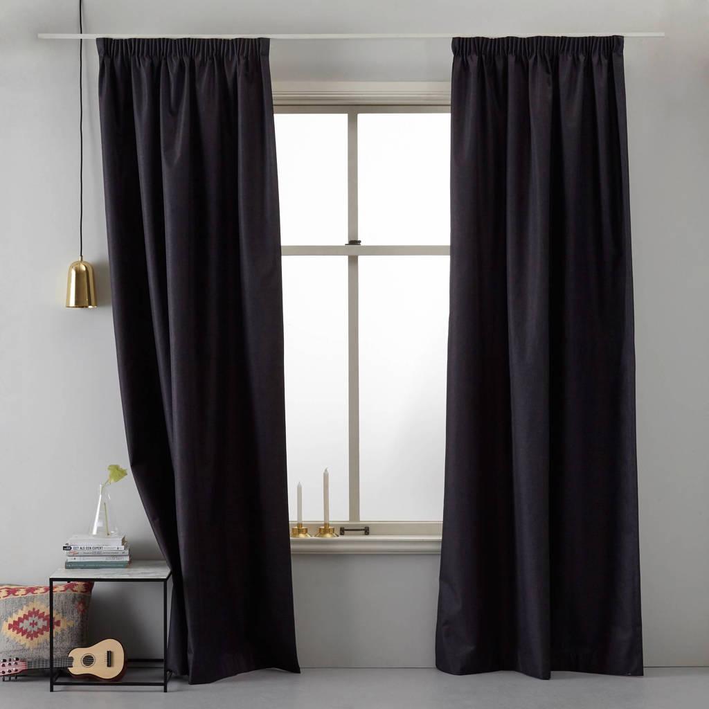 Wehkamp Home verduisterend gordijn kant en klaar verduisterend gordijn (per stuk) (140 x 270 cm), Zwart